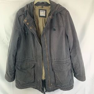Black Old navy Lined jacket/coat with hood